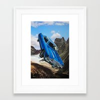 car Framed Art Prints featuring Car by John Turck