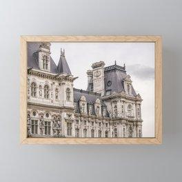 Paris Hotel de Ville Framed Mini Art Print