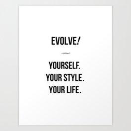 Evolve - 8 x 10 size Art Print