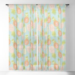 Pineapple Toss Sheer Curtain