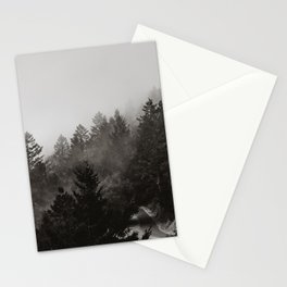 Misty Forest in Black and White III Stationery Cards