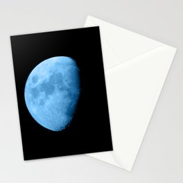 4K Dark Side of the Moon Ice Blue Stationery Cards