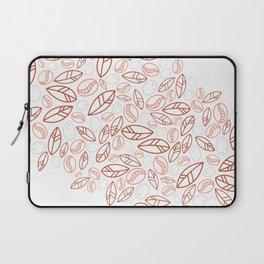 Red Coffee Bean Pattern Laptop Sleeve