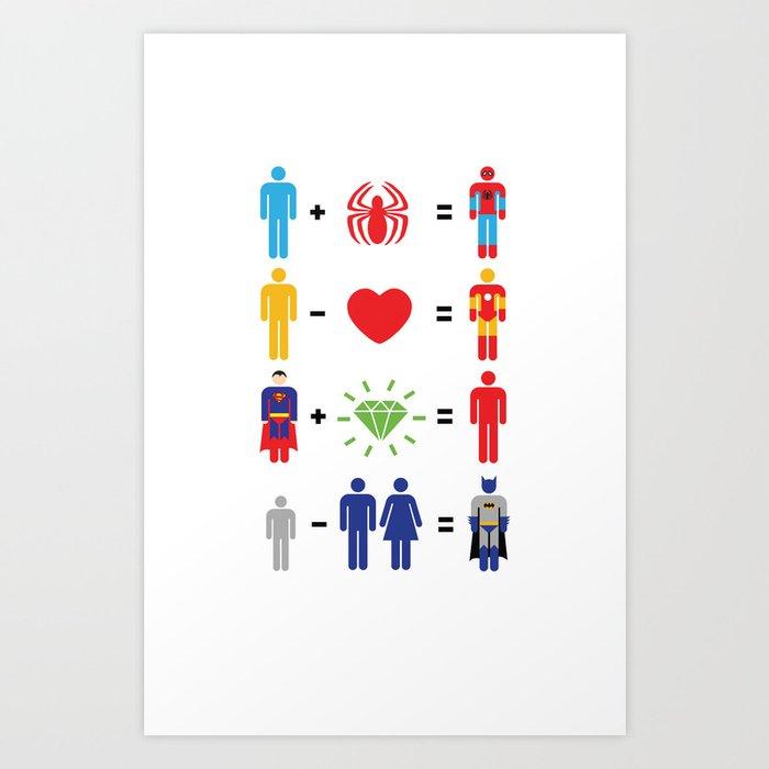 Super Math Art Print
