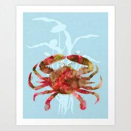 Mystical Crab Art Print
