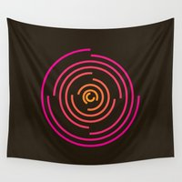 neon Wall Tapestries featuring Neon by Jeff Merrick