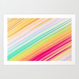 Colorful Rays Art Print