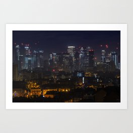 Old and Modern, Canary Wharf Art Print