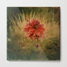 Hand painted vintage flower Metal Print