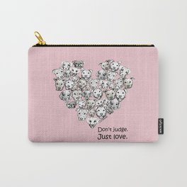 Just Love. (black text) Carry-All Pouch