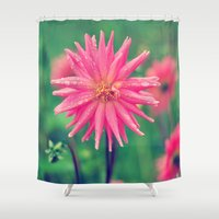 dahlia Shower Curtains featuring Dahlia by Thrive