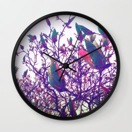 Once Upon a Parrot Wall Clock