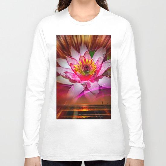 Wellness Water Lily Rose  6 Long Sleeve T-shirt