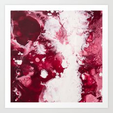 Color Commentary #3: Valentine's Gone Wrong (Dark Pink & Light Pink) [Robyn Miller] Art Print