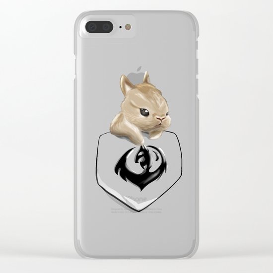 Pocket Anything - Bunny Clear iPhone Case
