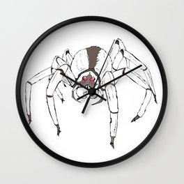 Space Spiders on Prom Day Wall Clock