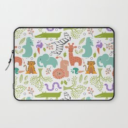 Zoo Pattern in Soft Colors Laptop Sleeve