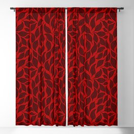 V.12 - Striated Leaves - Old Autumn Foliage Blackout Curtain