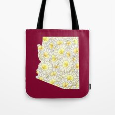 Arizona in Flowers Tote Bag