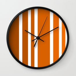 Striped Ombre in Orange Wall Clock