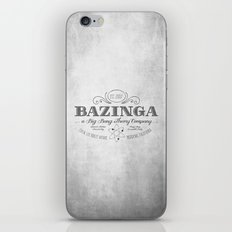 Bazinga Vintage iPhone & iPod Skin