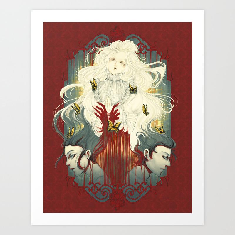 Crimson Spark A5 Poster Print