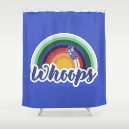 Retro Whoops Shower Curtain