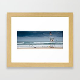 San Sebastian Beach, Spain Framed Art Print