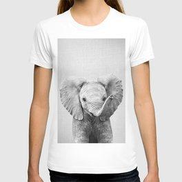 Baby Elephant - Black & White T-shirt