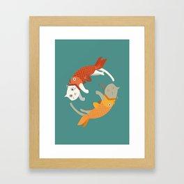 Fish A Cat Fish Cat Framed Art Print