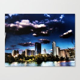 Purple is the Skyline Canvas Print
