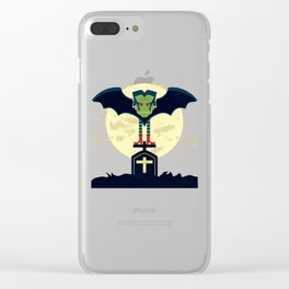 Dead Night Vampire Clear iPhone Case
