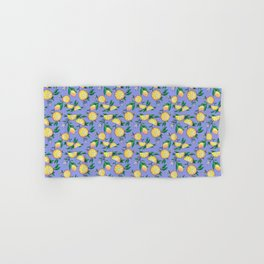 Purple lemons Hand & Bath Towel