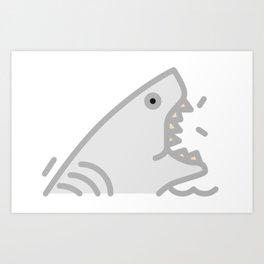 Slash The Shark Art Print
