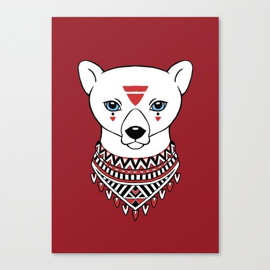 Tribal Bear Canvas Print