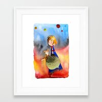 little prince Framed Art Prints featuring Little Prince by Jose Luis Ocana