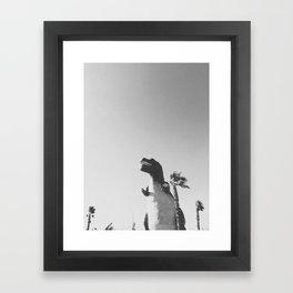 DINO / Cabazon Dinosaurs, California Framed Art Print