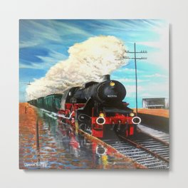 locomotive on the outback rail Metal Print