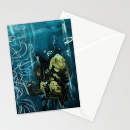 Falling into the dark Stationery Cards
