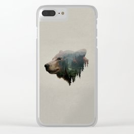 The Pacific Northwest Black Bear Clear iPhone Case