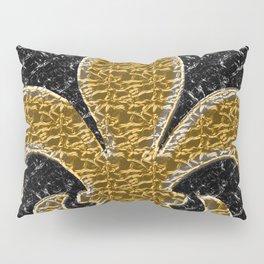 Black and Gold Fleur De Lis Pillow Sham