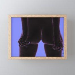 4810FV4 Intimita Nuda The Nude Buttocks Squeeze   Purple Blue Framed Mini Art Print