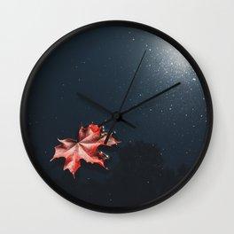 Floating Maple Leaf Wall Clock