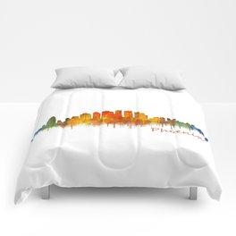 Phoenix Arizona, City Skyline Cityscape Hq v2 Comforters