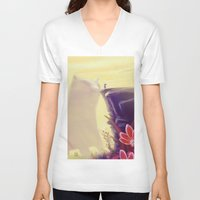 beauty and the beast V-neck T-shirts featuring Beauty and the Beast by Josè Sala