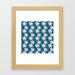 Japanese Floral Pattern 02 Framed Art Print