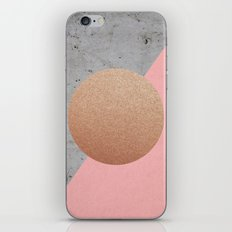 Abstract Shapes Rose Gold iPhone & iPod Skin