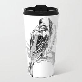 Cute Fluffy Bird Sleeping Travel Mug