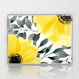 Big yellow watercolor flowers Laptop & iPad Skin