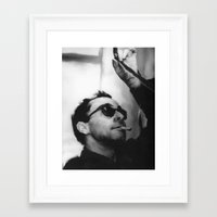 godard Framed Art Prints featuring Jean-Luc Godard by Tia Hank